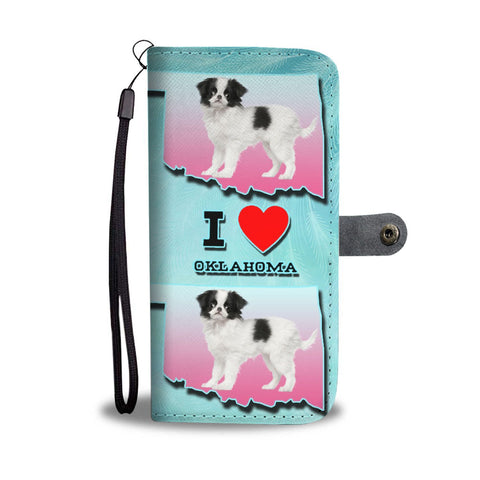Cute Japanese Chin Dog Print Wallet Case-Free Shipping-OK State