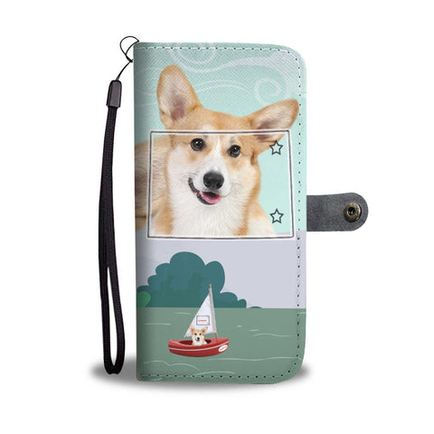 Pembroke Welsh Corgi Print Wallet Case-Free Shipping-CO State