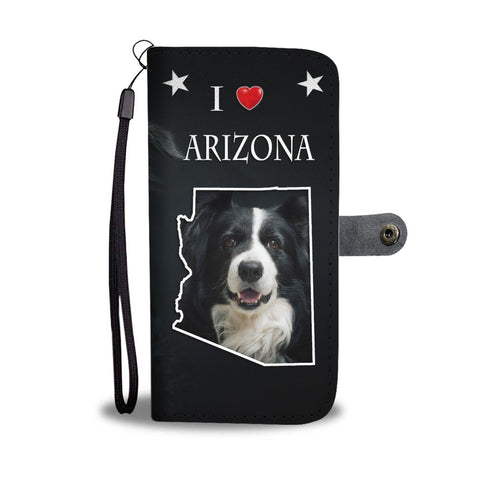 Lovely Border Collie Print Wallet Case-Free Shipping-AZ State