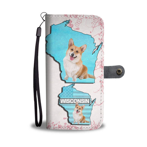 Cardigan Welsh Corgi Dog Print Wallet Case-Free Shipping-WI State