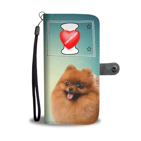 Pomeranian Dog Print Wallet Case-Free Shipping-CO State