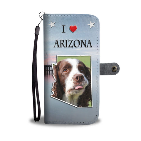English Springer Spaniel Print Wallet Case-Free Shipping-AZ State