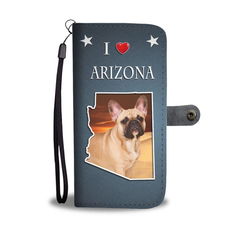 Cute French Bulldog Print Wallet Case-Free Shipping- AZ State