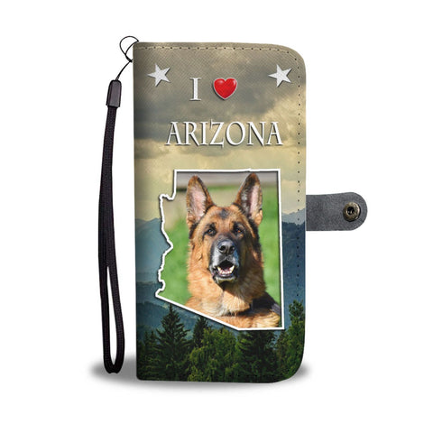 Cute German Shepherd Print Wallet Case-Free Shipping-AZ State