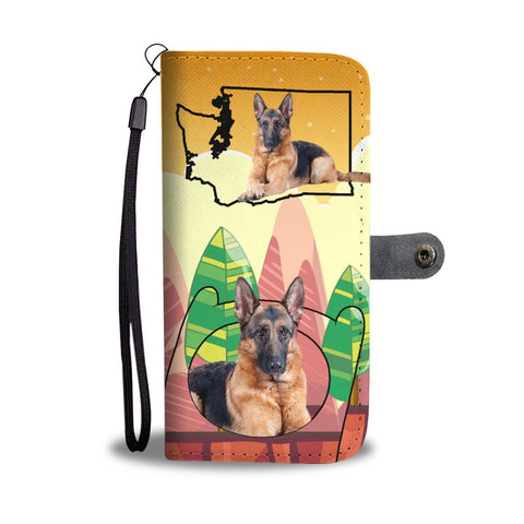 German Shepherd Print Wallet Case-Free Shipping-WA State