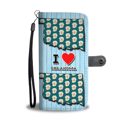 Golden Retriever Dog Pattern Print Wallet Case-Free Shipping-OK State