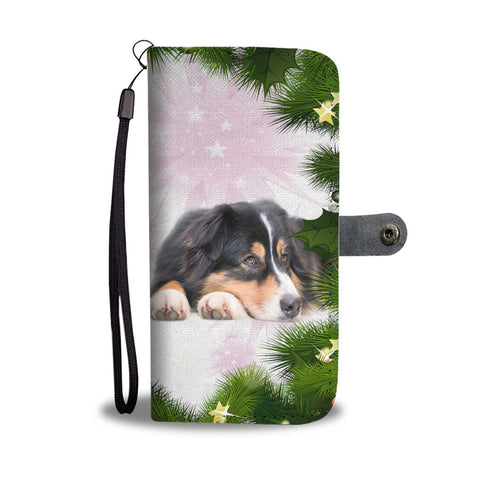 Australian Shepherd Dog Christmas Print Wallet Case-Free Shipping
