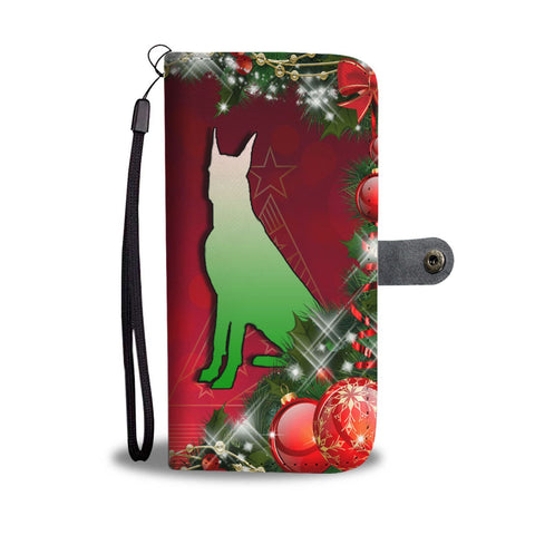 Great Dane Dog Art  Christmas Print Wallet Case-Free Shipping