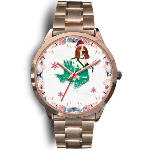 Basset Hound Texas Christmas Special Wrist Watch-Free Shipping