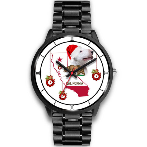 Bull Terrier California Christmas Special Wrist Watch-Free Shipping