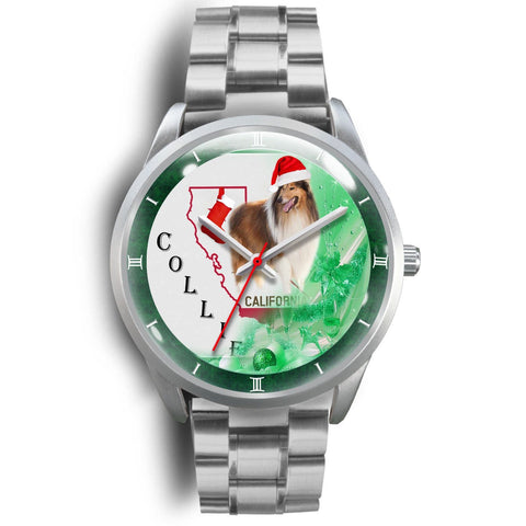 Rough Collie California Christmas Special Wrist Watch-Free Shipping