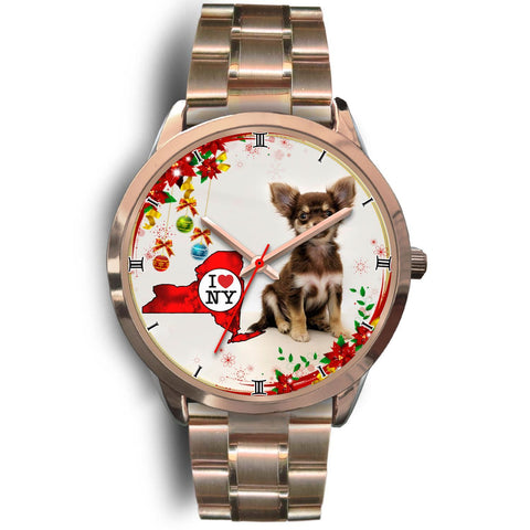 Cute Chihuahua Dog New York Christmas Special Wrist Watch-Free Shipping
