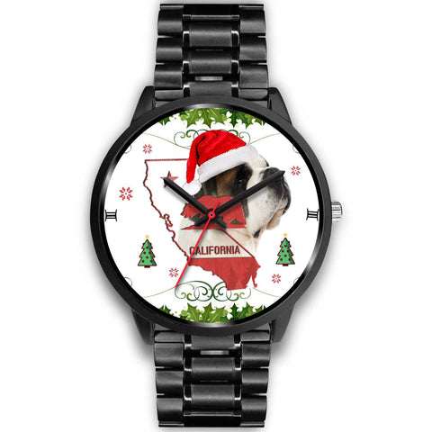 Saint Bernard Dog California Christmas Special Wrist Watch-Free Shipping