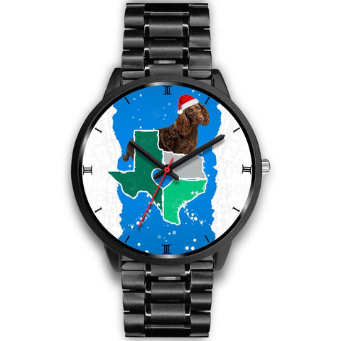American Water Spaniel Texas Christmas Special Wrist Watch-Free Shipping