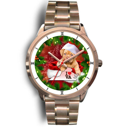 Lovely Bordeaux Mastiff Dog Virginia Christmas Special Wrist Watch-Free Shipping