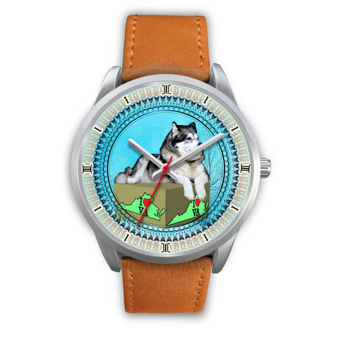 Lovely Alaskan Malamute Dog Virginia Christmas Special Wrist Watch-Free Shipping