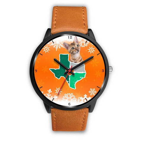 Toyger Cat Texas Christmas Special Wrist Watch-Free Shipping