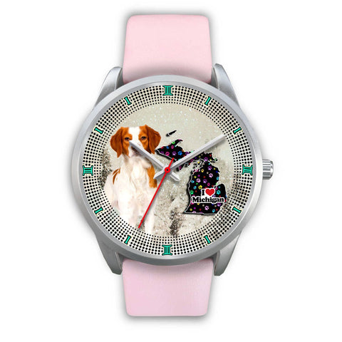 Lovely Brittany Dog Christmas Michigan Christmas Special Wrist Watch-Free Shipping