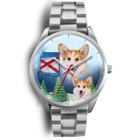 Pembroke Welsh Corgi Arizona Christmas Wrist Watch-Free Shipping
