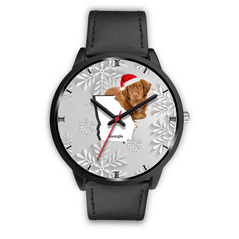 Nova Scotia Duck Tolling Retriever Georgia Christmas Special Wrist Watch-Free Shipping