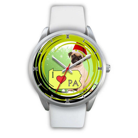 Lovely Pug Dog Pennsylvania Christmas Special Wrist Watch-Free Shipping