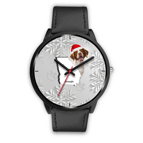 Brittany dog Georgia Christmas Special Wrist Watch-Free Shipping