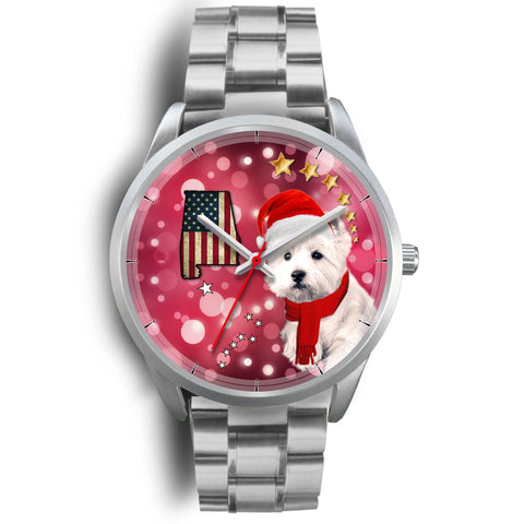 Cute Westie Alabama Christmas Special Wrist Watch-Free Shipping