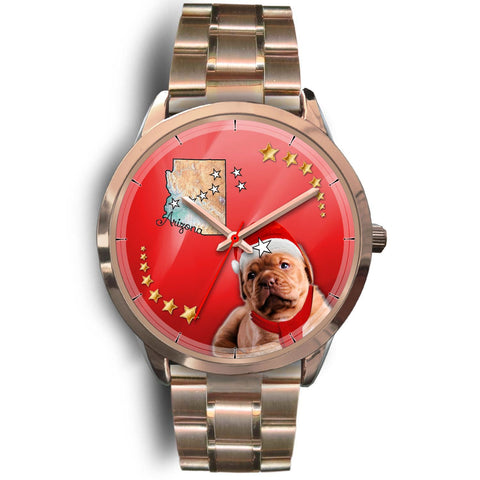 Dogue De Bordeaux Arizona Christmas Special Wrist Watch-Free Shipping