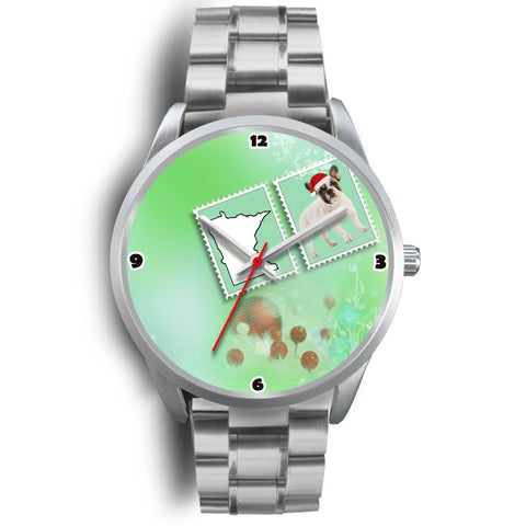 French Bulldog Minnesota Christmas Special Wrist Watch-Free Shipping