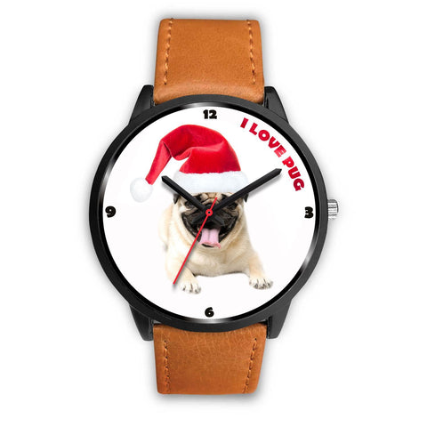 Cute Pug Dog Christmas Special Wrist Watch-Free Shipping