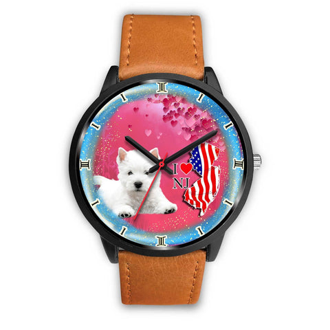 Cute West Highland White Terrier (Westie) New Jersey Christmas Special Wrist Watch-Free Shipping
