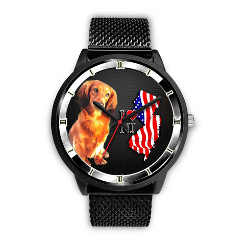 Cute Dachshund Dog New Jersey Christmas Special Wrist Watch-Free Shipping