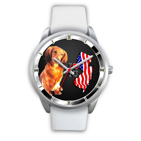 Love Dachshund Dog New Jersey Christmas Special Wrist Watch-Free Shipping