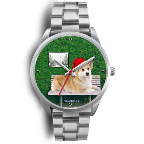 Pembroke Welsh Corgi Colorado Christmas Special Wrist Watch-Free Shipping
