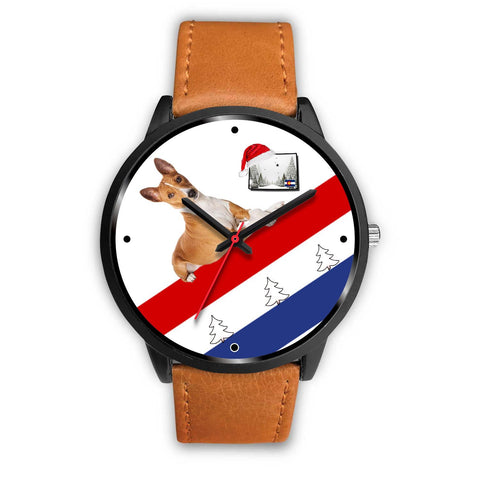 Basenji Dog Colorado Christmas Special Wrist Watch-Free Shipping
