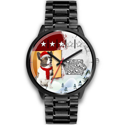 Cardigan Welsh Corgi Iowa Christmas Special Wrist Watch-Free Shipping
