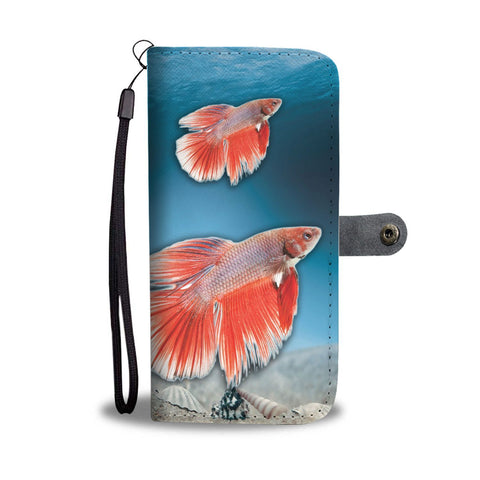 Siamese Fighting Fish Print Wallet Case-Free Shipping