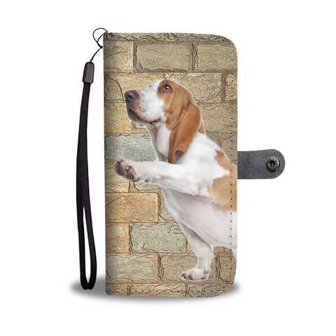 Basset Hound Print Wallet Case- Free Shipping