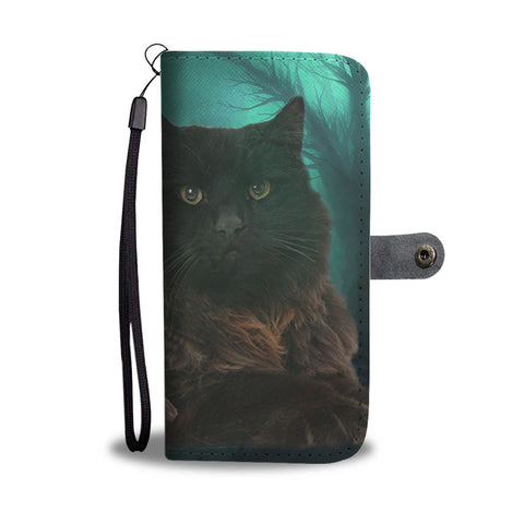 Lovely York Chocolate Cat Print Wallet Case-Free Shipping