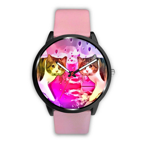 Manx cat Print Wrist Watch-Free Shipping