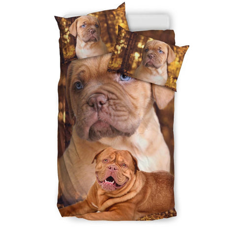 Dogue De Bordeaux Print Bedding Set- Free Shipping
