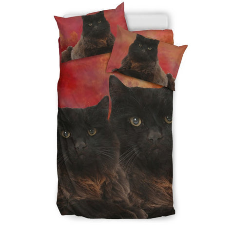Amazing York Chocolate Cat Print Bedding Set-Free Shipping
