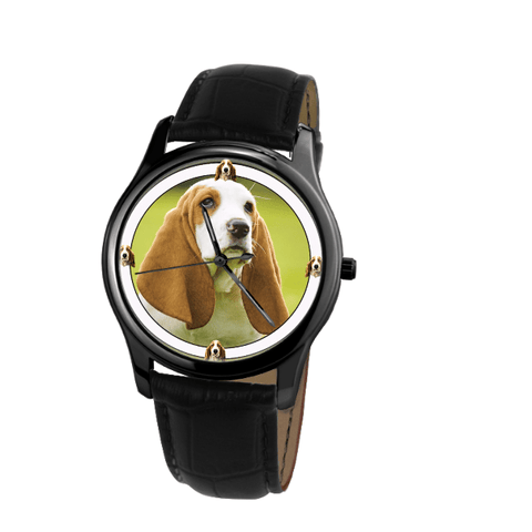 Cute Basset Hound Fashion Unisex Wrist Watch - Free Shipping-Paww-Printz-Merchandise