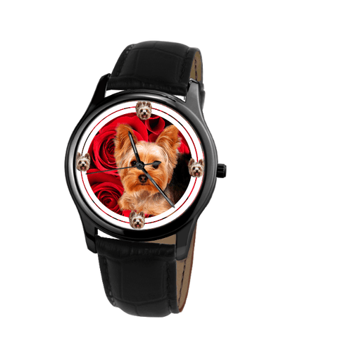 Cute Yorkshire Terrier Unisex Wrist Watch- Free Shipping-Paww-Printz-Merchandise
