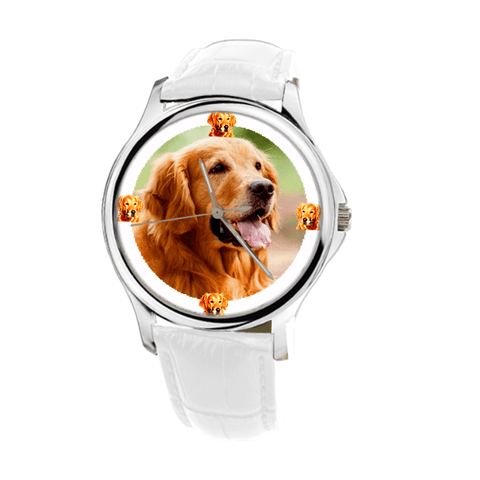 Golden Retriever Women's Silver Wrist Watch-Free Shipping-Paww-Printz-Merchandise