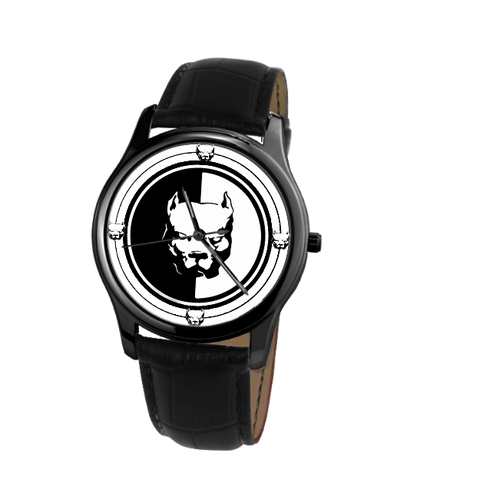 Pit Bull Terrier Classic Unisex Wrist Watch- Free Shipping-Paww-Printz-Merchandise