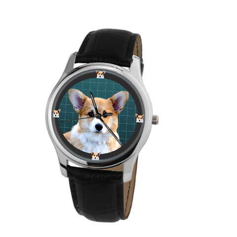 Pembroke Welsh Corgi Unisex Fashion Wrist Watch- Free Shipping-Paww-Printz-Merchandise