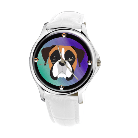 Boxer Dog Women's Silver Wrist Watch - Free Shipping-Paww-Printz-Merchandise