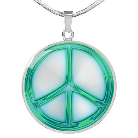 Glowing Peace Sign Print Luxury Necklace-Free Shipping