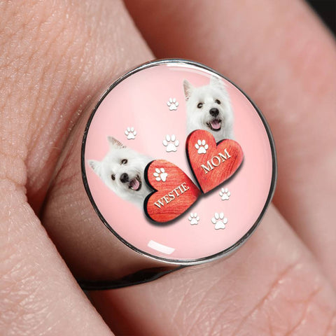 West Highland White Terrier (Westie) Print Signet Ring-Free Shipping